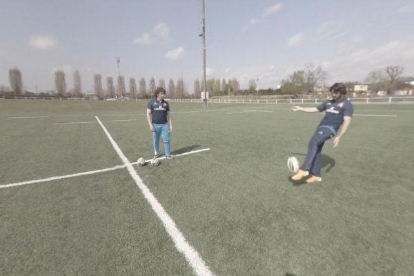 Rugby calcio tattico Video VR