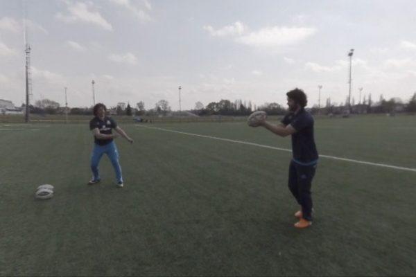 Rugby dropkick Video VR