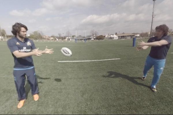 Rugby passaggio Video VR